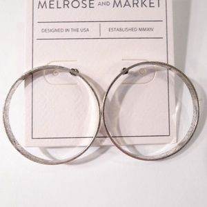 Nordstrom Melrose and Market Silver Circle Earring